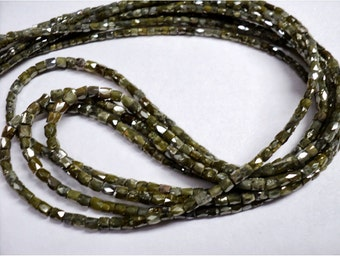 Rough Diamonds - Natural Rough Faceted Diamond Beads, Drum Shaped - Approx 2mm To 1mm Each - 20 CTW - 16 Inch Strand