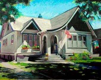 Custom House Portrait, Custom Home Portrait ,House Warming Gift, House Warming, Custom House Picture, Going Away Gift, Closing Gift