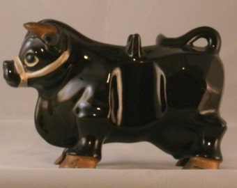 Black bull figurine