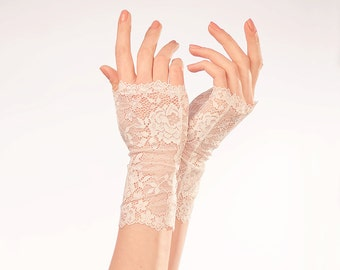 Wedding Gloves Bridal Gloves Bridal Lace Mittens Fingerless Gloves Lace Wedding Gloves White Lace Gloves Elegant Gloves Bridal Dress Jewelry