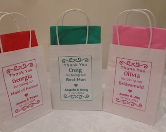 Personalised Wedding Favour Gift bags