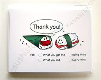 Sushi Thank You Note Cards