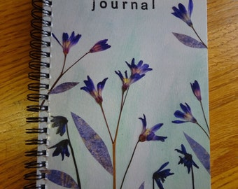 Whimsical Wildflower Journal in Blue & Purple