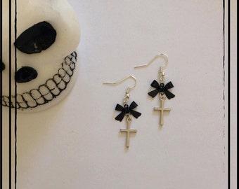 """Earrings """"Cute cross"""""""
