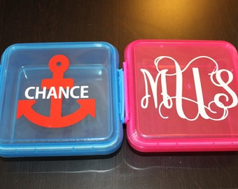 Custom Monogram Sandwich container - Design you own - Back to School