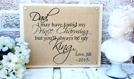 Weddings, gift ideas, GIft for father of the bride, from bride to dad ...