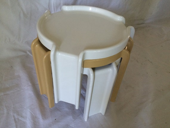 Kartell Giotto Stoppino Nesting Tables 1970 S Abs Plastic
