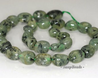 13x10-19x17mm Prehnite Gemstone Nugget Loose Beads 7 inch Half Strand BULK LOT 1,2,6,12 and 50 (90191101-39)