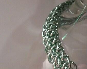GSG Chainmaille Bracelet in Seafoam