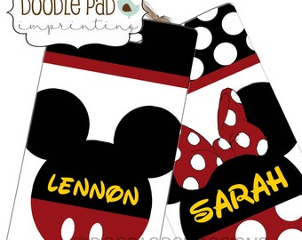 Mickey Mouse Luggage Tag, Personalized Disney Minnie Mouse Bag Tag