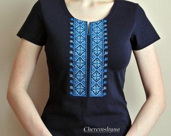 Vyshyvanka Ukrainian embroidery Short sleeve shirt Embroidered boho shirt Made in Ukraine Vyshivanka GIFT