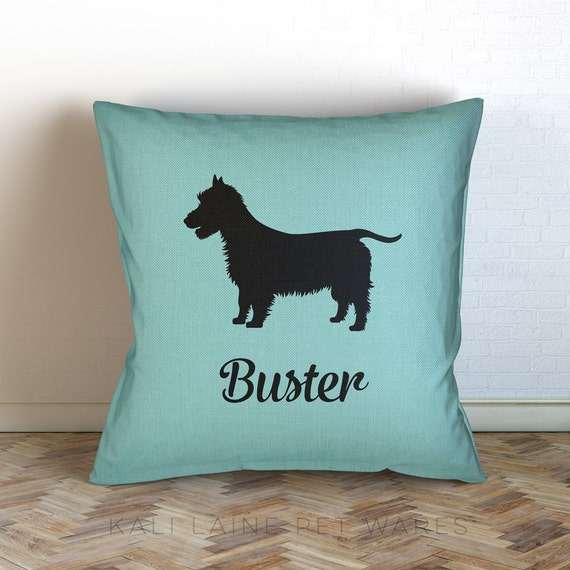 Personalized Dog Name Decorative Throw Pillow/ Australian