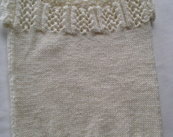 Baby Singlet Vintage Inspired - 0 to 3 Months - Cream