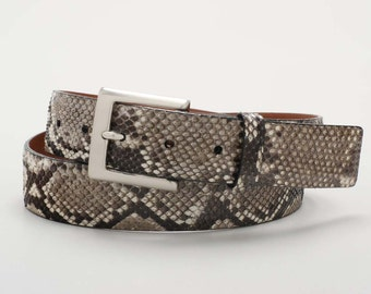 Authentic, Handmade Python Belt