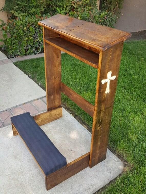 Reclaimed Wood Prayer Kneeler Wesley Kneeler Kneeler Big