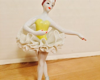 Vintage Ballerina Glass Figurine