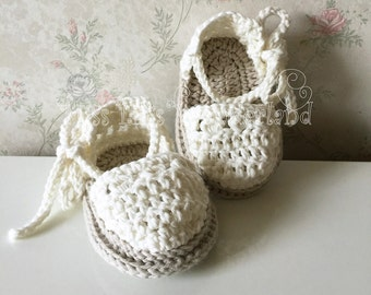 Crochet baby sandals,Handmade baby shoes, Spring Summer White Green, Sandalini, Scarpine, Uncinetto