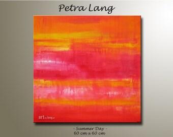"""Painting """"SUMMER DAY"""" Contemporary Art, Modern Abstract, Urban art, Canvas Art, Wall Art, Home Decor"""