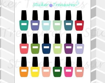 18 Nail Polish (Opi) [Planner Stickers]