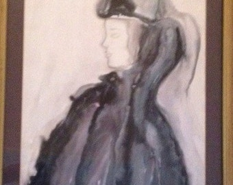 Original Watercolor Painting Signed By Vera Gregovic 1983