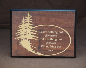 Outdoors quote plaque