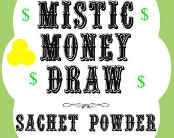 Mistic Money Draw Southern Folk Magic Sachet Powder
