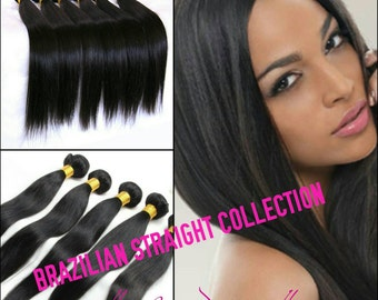 100% Human Unprocessed Brazilian Remy Straight Hair 3 Bundles