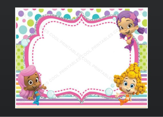 Bubble Guppies Invitations Templates is best invitations sample