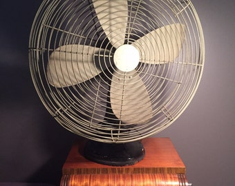 Vintage / Industrial Robbins and Myers oscillating Fan / Mid Century Fan/ Industrial Decor