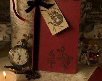 Alice in Wonderland Handmade Notebook Alice and the Dodo
