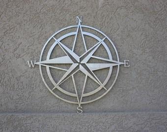 "Compass (15"") | Laser Cut Metal Sign"