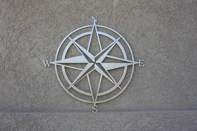 15 Compass Laser Cut Metal Sign
