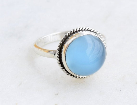 chalcedony ring silver ring ring by silvershop925