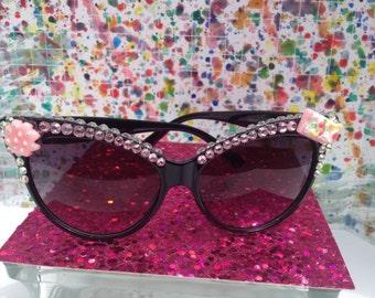 Sweet treat sunglasses with rhinestones
