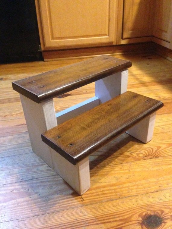 Items Similar To Rustic Wood Farm House Step Stool Kids