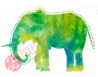 Lili The Elephant (green)