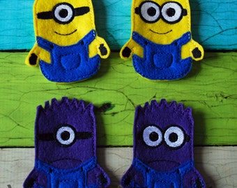 Set of 4 Storybook Finger Puppets - Inspired by Despicable Me movie