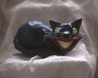 Crazy Cat, papier mâché, MADE TO ORDER