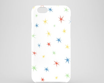 Colour Stars iPhone 6S case / white iPhone 6S case / cute iPhone 6 case / Girly iPhone 6 case / summer iPhone 6 case / FREE UK SHIPPING