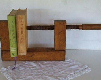 "Wooden Vice French vintage, and Extra Large 18"" x 11""."
