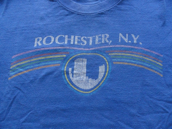 vintage 1980s rochester ny t shirt l