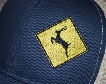 Phish Antelope on a Pacific Blue color Trucker Hat