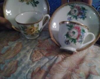 O.L. Tea cups