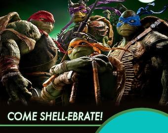 Teenage Mutant Ninja Turtle Printable Digital Invite