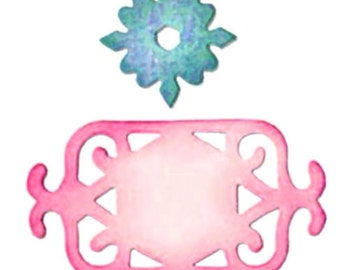 NEW Sizzix FRAME & MEDALLION Die jewelry making   Works with Cuttlebug