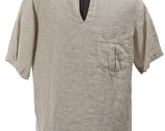 Natural linen men's shirt, Grey Linen Men's Shirt, Linen clothing, Linen clothes, Organic Linen Shirt, Men Gift