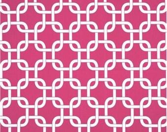 1 Yard Hot Pink and White Geometric Fabric - Premier Prints Candy Pink and White Gotcha Fabric ONE YARD hot pink dark pink fuchsia