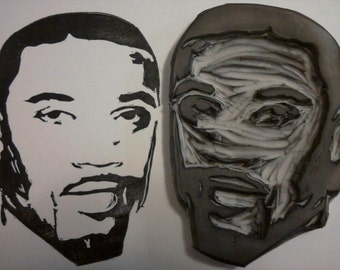 Ray J Hand Carved Rubber Stamp