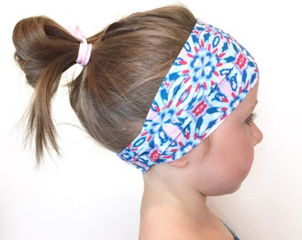 CHILDREN'S Fitness Headband - Workout Headband - Exercise Headband - Yoga Headband - ALL PRINTS available