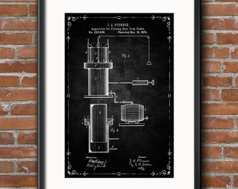Beer Brewing Poster, Beer Brewing Wall Decor, Beer Brewing Art, Beer Brewing Wall Art, Digital Download Instant Art Printable Dorm Wall